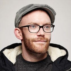Topher Osborn, cinematographer of Dear White People, at the Canon Craft Cocktails Portrait Studio at the 2014 Sundance Film Festival.